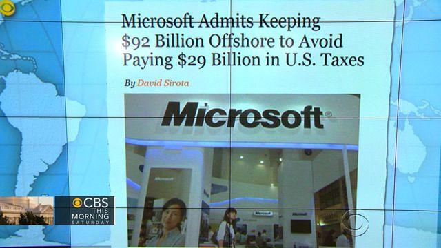 Headlines: Microsoft avoids billions in taxes by keeping profits offshore
