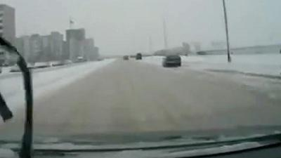 Russian Driver Hit By Karma