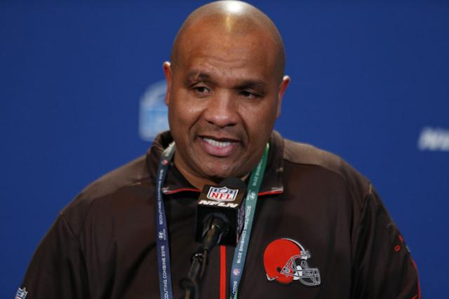 Browns Head Coach Hue Jackson leads the change in Cleveland