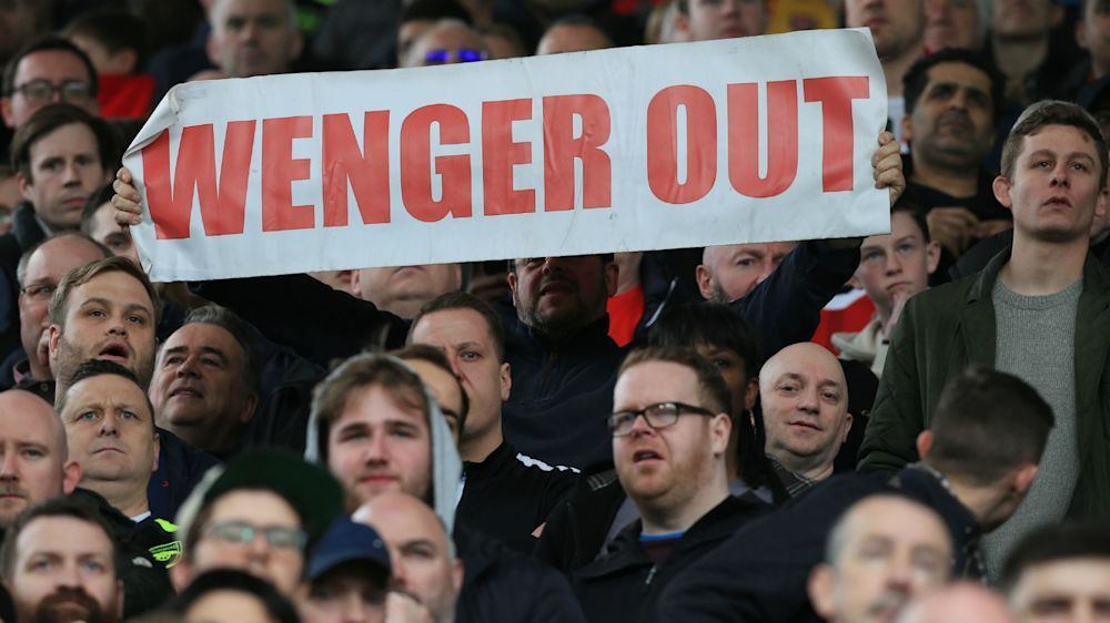 'Wenger Out' banner photographed in South Africa's Jacob Zuma protest
