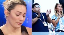 Diego Maradona's girlfriend in ugly funeral spat with ex-wife