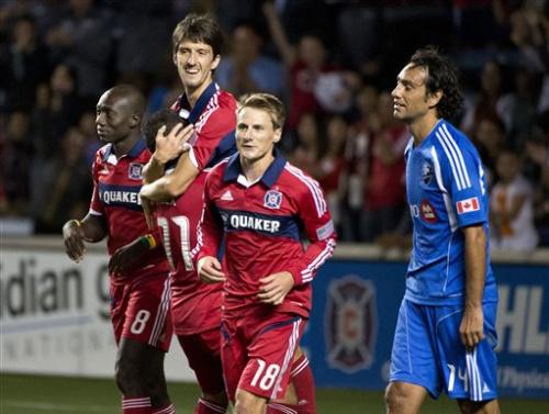 Pair of 2nd-half goals lift Fire over Impact 3-1