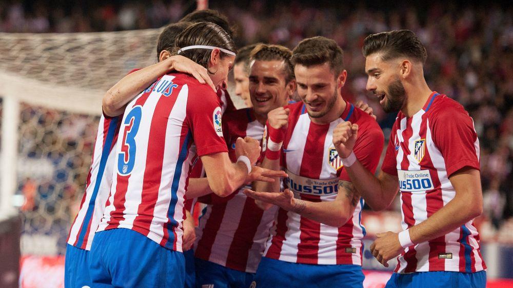 Atletico Madrid 1 Real Sociedad 0: Filipe Luis secures fifth successive win