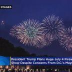 President Trump Plans Huge July 4th Fireworks Show Despite DC's Concerns