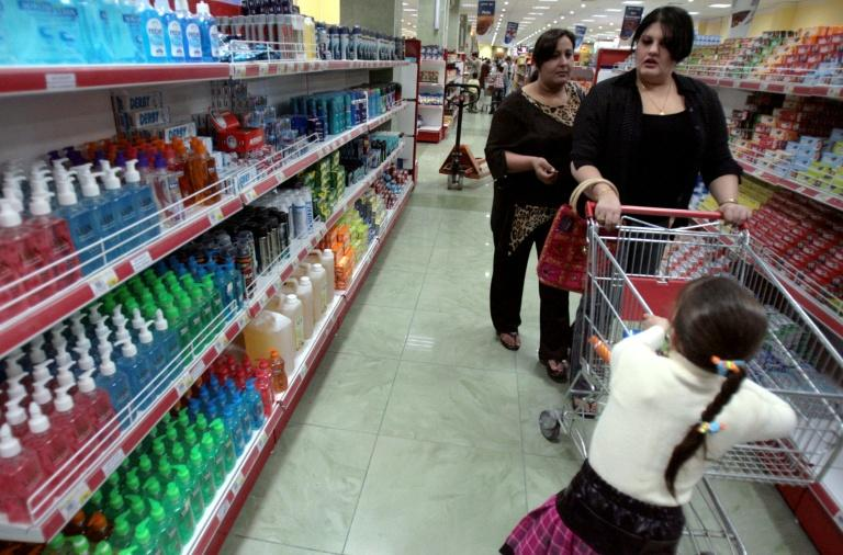Turkey and Iran are Iraq's top importers and their products mostly outpace locally-produced goods in the market (AFP Photo/AHMAD AL-RUBAYE)