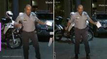 Capitão da polícia viraliza ao dançar em live