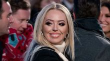 Tiffany Trump Stands Out in a Bold Red Dress at State Dinner With Royal Family