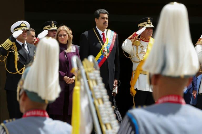 Venezuelan President Nicolas Maduro attends a military parade in Caracas on July 5 (AFP Photo/Zurimar CAMPOS)