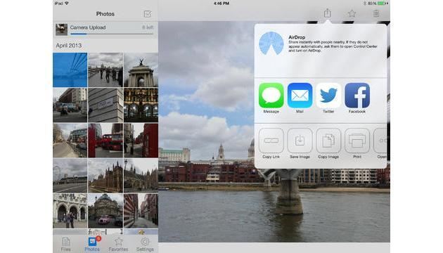 Dropbox gets an iOS 7 makeover with AirDrop sharing
