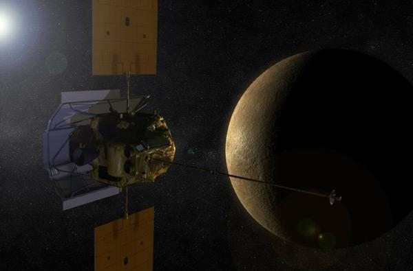 NASA's MESSENGER begins orbit around Mercury, will start beaming back science early next month