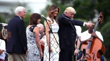 Melania Trump's $2,225 Dress Was Perfectly on Theme for the Congressional Picnic