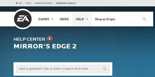 Mirror's Edge 2 help page goes live on EA site, swiftly removed
