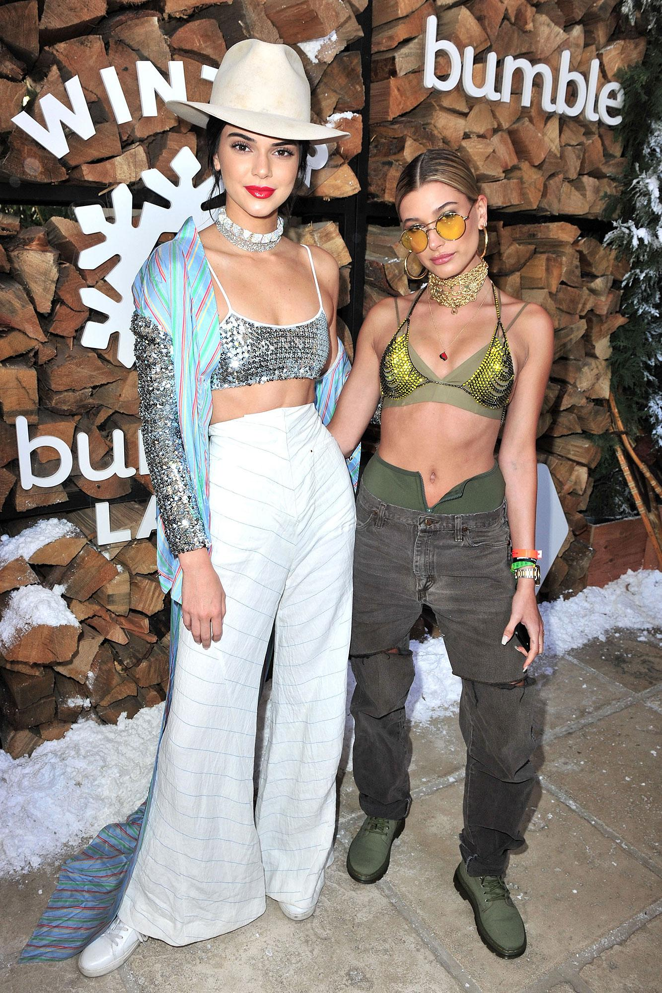 Kendall Jenner and Hailey Baldwin, April