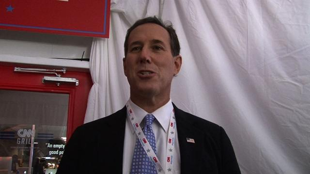 Santorum on convention speech-writing process