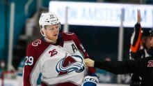 Sharks' Joachim Blichfeld discusses hit on Nathan MacKinnon, suspension