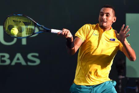 Tennis - Davis Cup Quarter Finals - Australia vs USA - Pat Rafter Arena, Brisbane, Australia