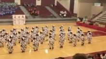 Watch this hilarious high school dance team perform in Chick-fil-A cow costumes
