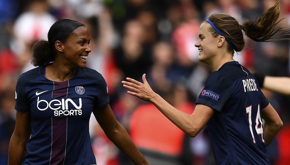Ligue des champions féminine: le PSG domine encore Barcelone et se hisse en finale