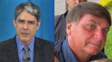 William Bonner imita Bolsonaro e vira meme pelo segundo dia seguido