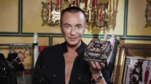 A bedazzled Mcdonald's burger box now exists thanks to designer Julien Macdonald