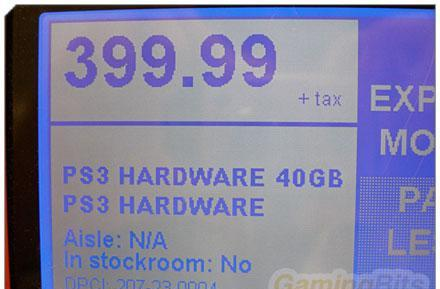40GB PlayStation 3 shows up in US Target for $399