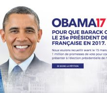 Thousands of French people want Barack Obama to be their next president