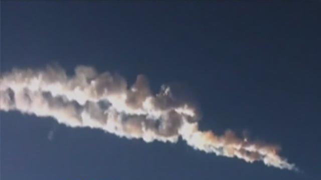 Meteorite strikes in Russia