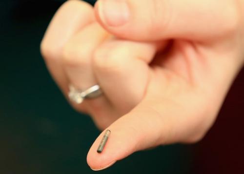 An RFID chip.