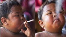 Así luce ahora el niño de 2 años que fumaba 40 cigarros al día