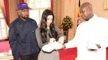 Kanye and Kim's gift to Ugandan president