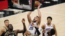 Hawks rally past Sixers, level NBA series