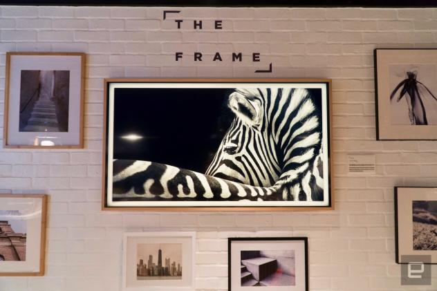 Samsung's The Frame TV blends in with the art on your wall