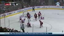 Jeff Skinner scores off the draw
