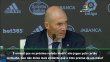 La Liga: Zidane sobre vermelho de Modric: 'temos nos virar'