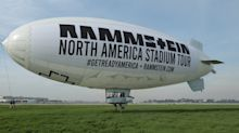 Rammstein Promotes North American Stadium Tour with a Blimp