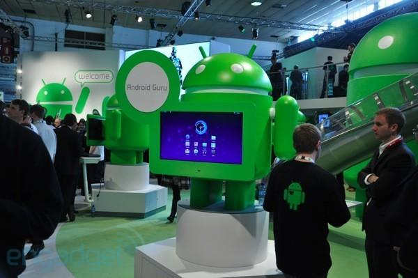 Google's MWC 2011 Android booth tour
