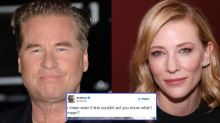 Val Kilmer tweets 10 times about Cate Blanchett in 'creepy and obsessive' rant