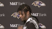 Lamar Jackson leaves reporters in stitches with spin move during press conference