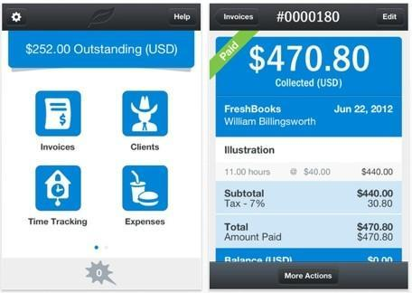 FreshBooks small business accounting service launches an iPhone app
