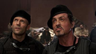 'The Expendables' on their deadly shoot