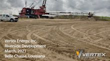 Vertex Energy Announces Commencement of Construction for Processing & Storage Expansion in Louisiana