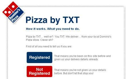 Dominos now accepting pizza orders via SMS... in the UK