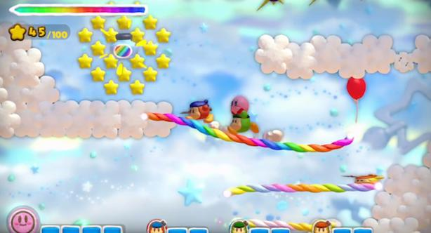 Kirby and the Rainbow Curse trailer shows 4-player gameplay