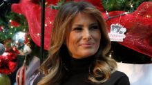 Melania Trump Pops in Turquoise With Leopard-Print Louboutins at a Children's Hospital
