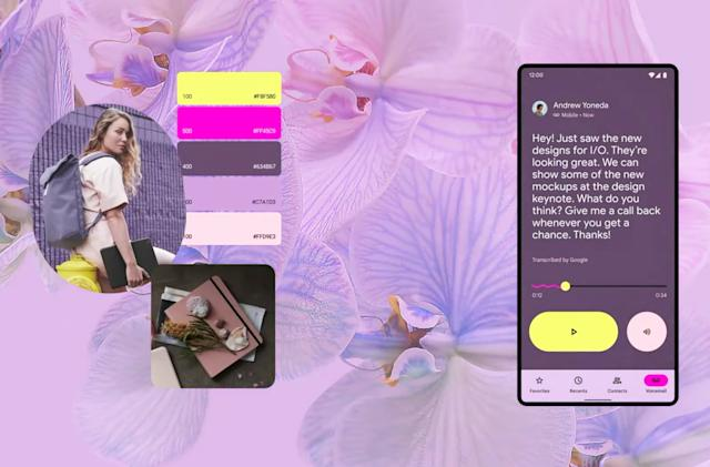 Material You is a colorful, personalized redesign for Android and more