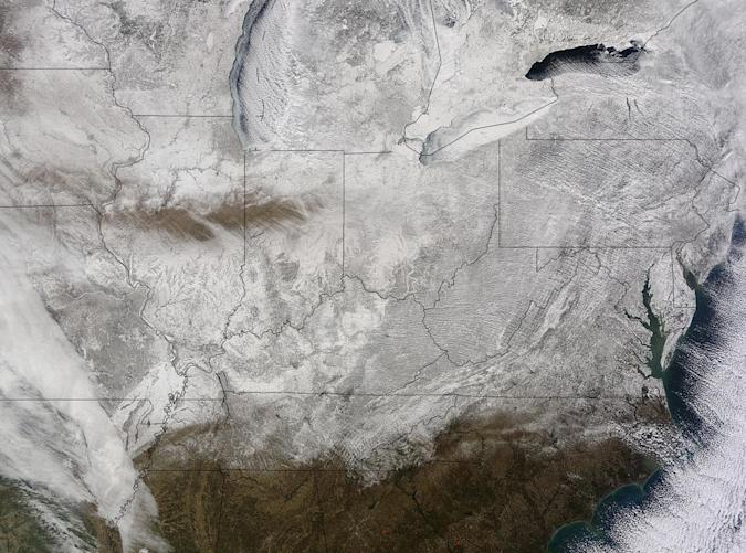 The Big Picture: The frozen US as seen from space