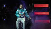 Rapper J. Cole makes Basketball Africa League debut with own music in warm-ups