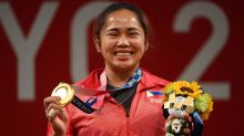 Weightlifter Hidilyn Diaz wins the Philippines' first Olympic gold