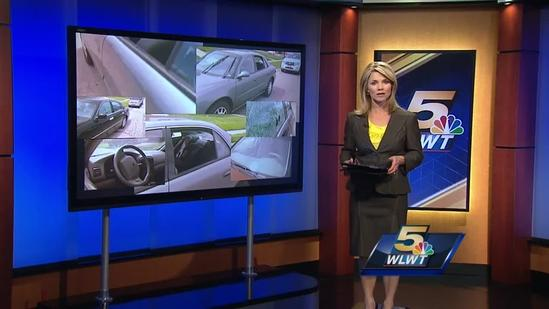 Cars vandalized by BB fire in 2 townships overnight