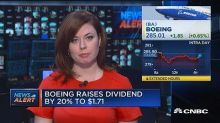 Boeing raises dividend by 20%